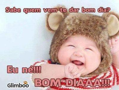 imagens de bom dia com bebes para whatsapp