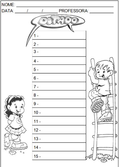 modelos de ditados de palavras para imprimir