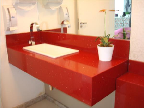 Bancadas para banheiro marmore madeira silestone vidro for Silestone o granito 2016