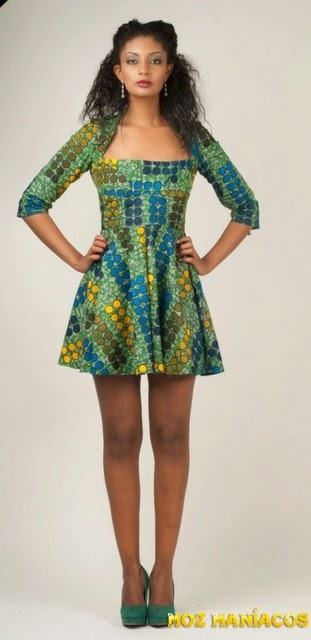 vestidos-curtos-de-capulana-manga-3-quartos