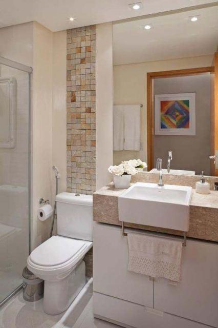 69 PROJETOS DE BANHEIROS MODERNOS belíssimos e agradáveis  Na Internet -> Banheiro Pequeno Quanto Custa
