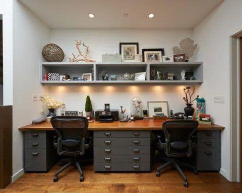 Como ter um escrit rio pequeno em casa home office na for Escritorios compactos