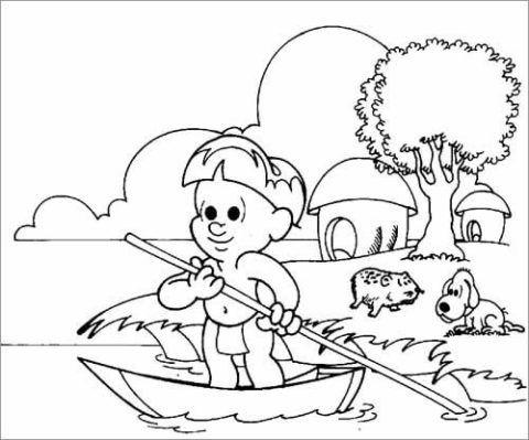 Desenhos Para Dia Do Indio Moldes Para Pintar Atividades