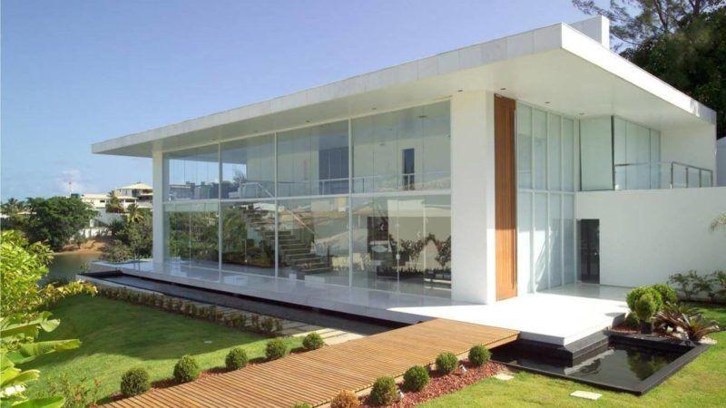 Fachadas DE CASAS modernas para seu projeto