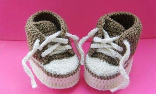 Sapatinho de Bebê de crochê com gráficos (Passo a passo)