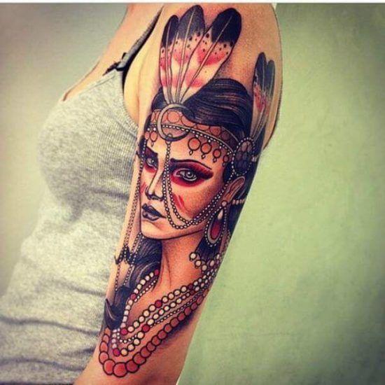 50 fotos tatuagem feminina onde fazer no bra o barriga for Tatuaggi stile pin up