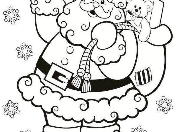 Diversos Desenhos do Papai Noel para Imprimir e Colorir