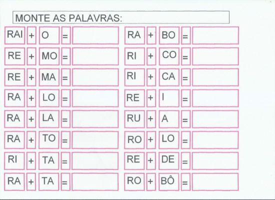Atividades Silabas Com Ra Re Ri Ro Ru Para Imprimir