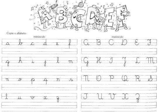 Atividades Com Letra Cursiva Para Escrita Imprimir