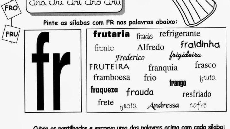Atividades Encontros Consonantais para Imprimir