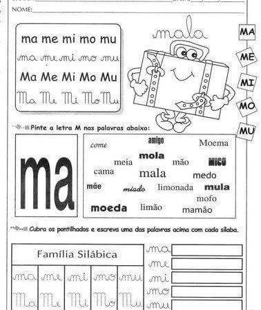 Atividades Sílabas com M Ma me mi mo mu para imprimir