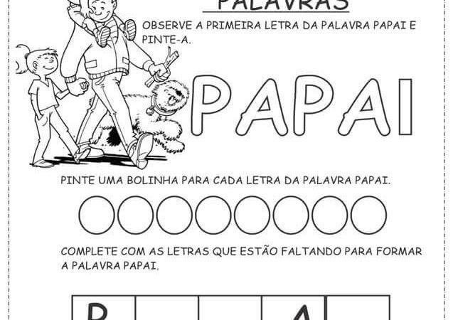 Atividades Dia dos Pais para sala de Aula, Imprimir