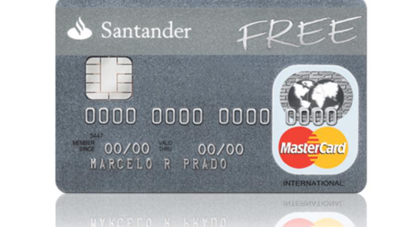 Cartão de Crédito Santander Free, sem Taxas Anuidade